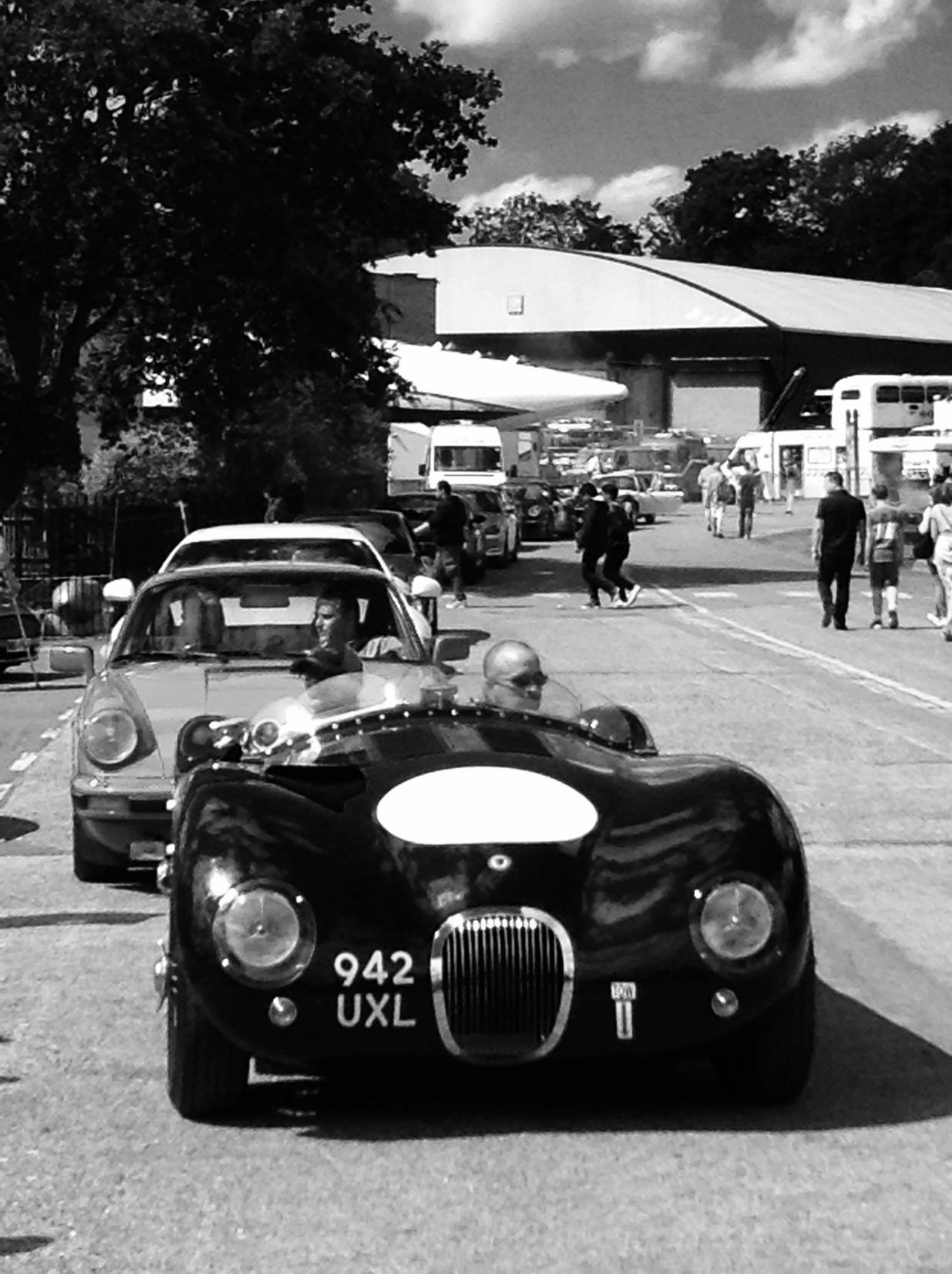 C-Type Jaguar Classic Cars JaguarC-Type Brooklandsmuseum Black And White First Eyeem Photo