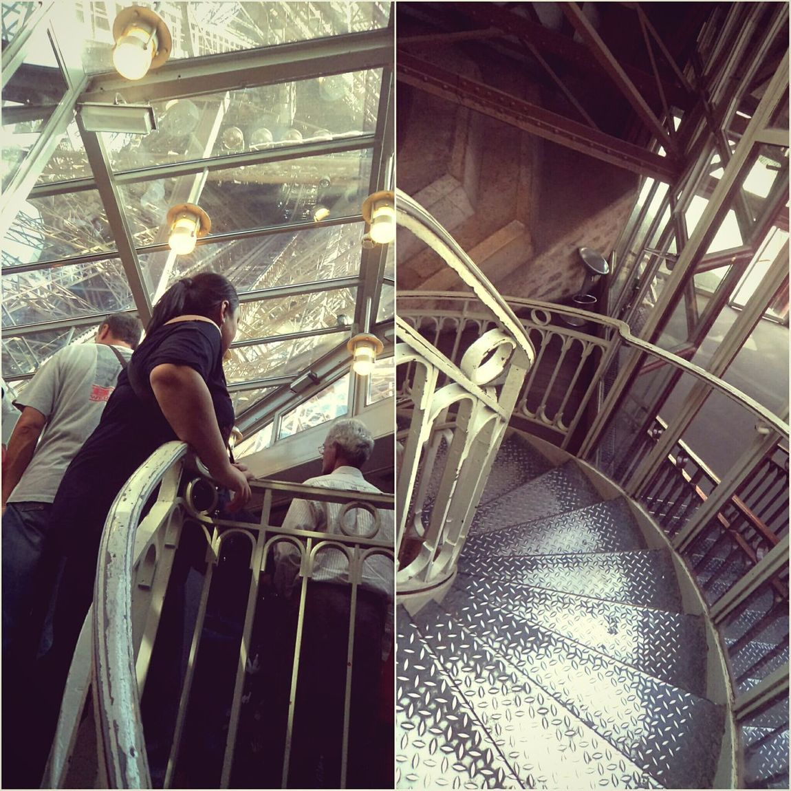 """In Between Two Steps"". Throwback to when we visited the Eiffel Tower in Paris in 2011. Standing in line with my camera as we awaited our turn, I looked up at the tower above us, and then back at the staircase behind us. Something clicked, and I knew I had to take pictures of both... There's something to be said about being one step away from trying out something new, and one step removed from the comfort of safety and sure. Life teaches you that. Paris gave me this.• 🗼💕 Paris Paris, France  Twominutehipster My Point Of View Memories Eiffel Tower Tour Eiffel Old Pic - New Edit Paris Je T Aime Paris, Tu Me Manques"