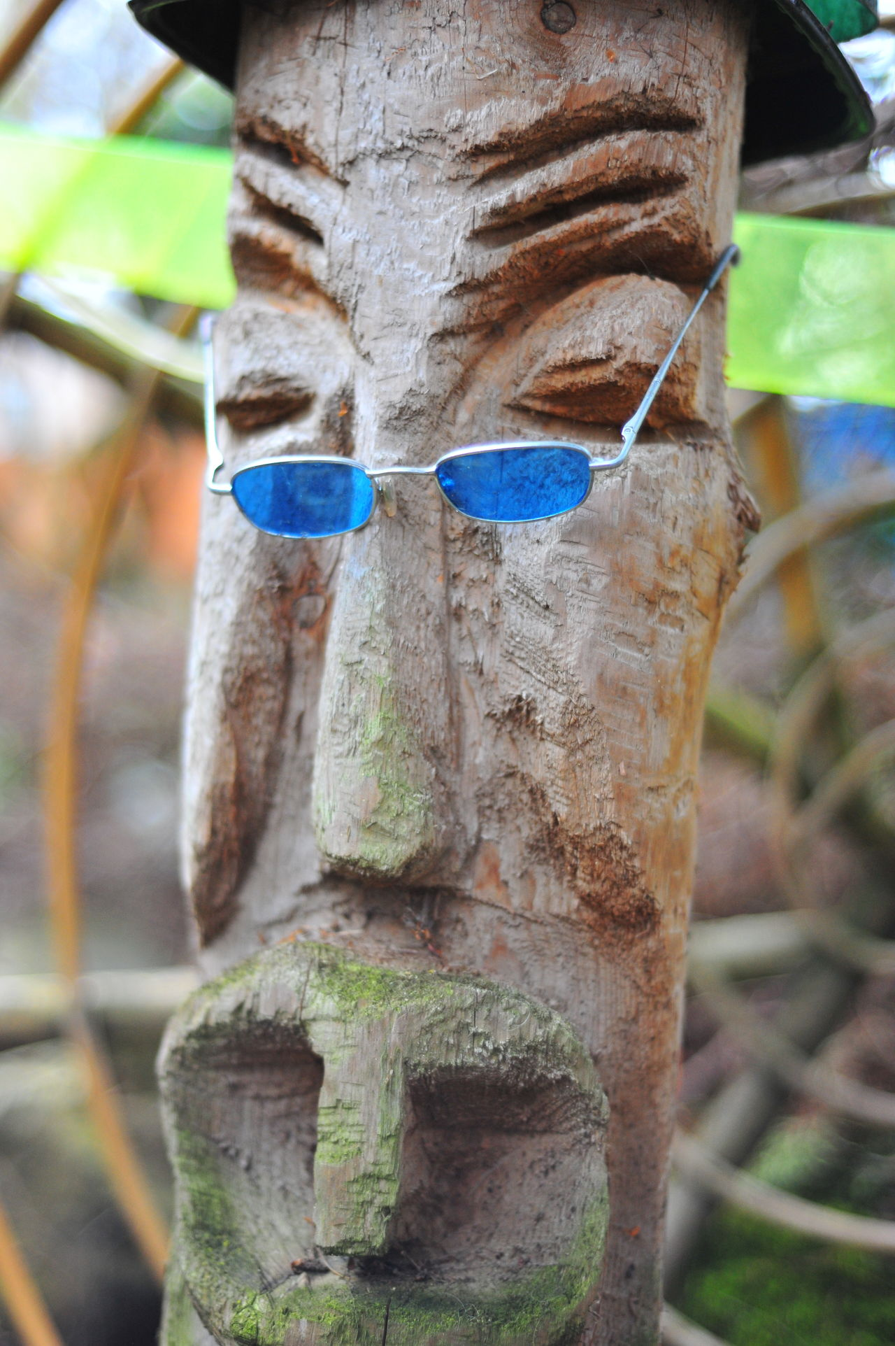 Close-up Day Faces Focus On Foreground Nature No People Outdoors Textured  Tiki God Tree Tree Trunk Art Is Everywhere