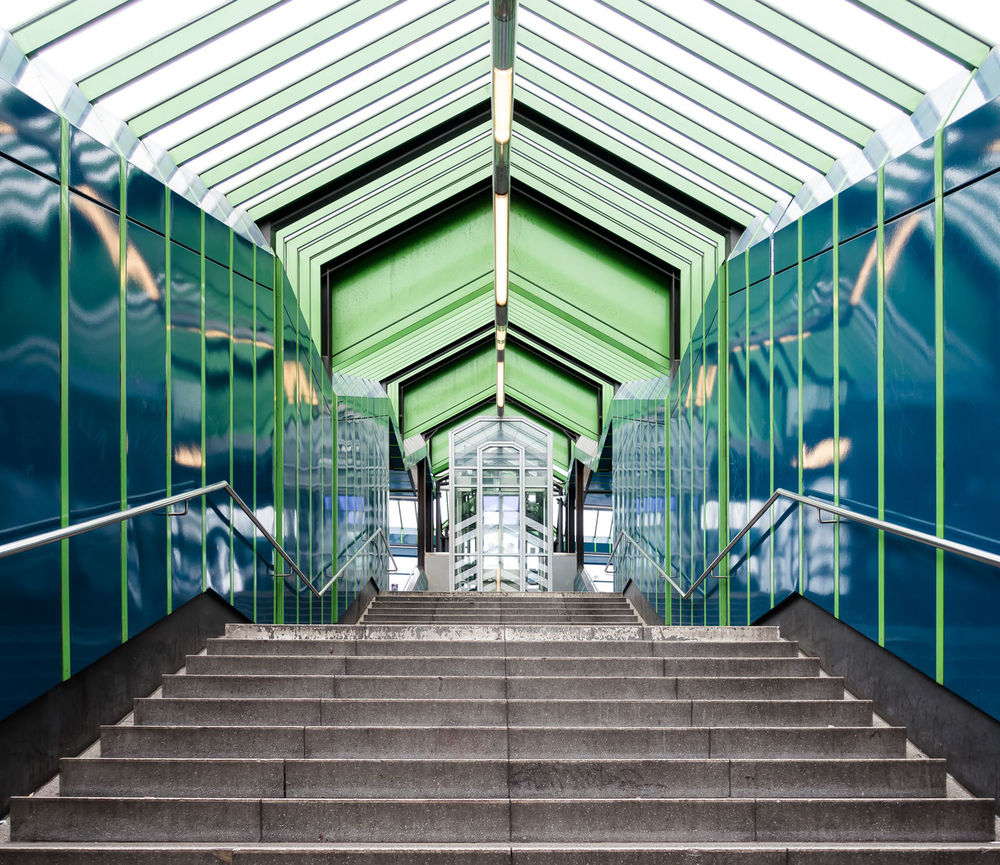 Architecture Best Of Stairways Built Structure Day Elevated Walkway Indoors  Modern Modern No People Railing Reflection