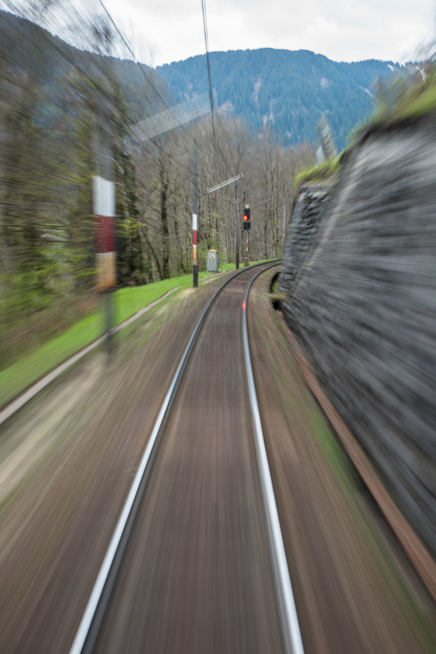 blurred motion, speed, motion, long exposure, transportation, day, no people, mountain, road, nature, outdoors