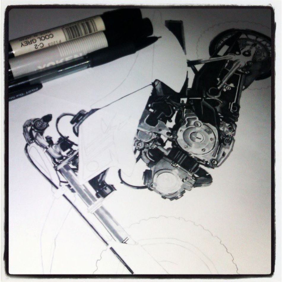 In progress Srambler Randering IDE Nabil artworks