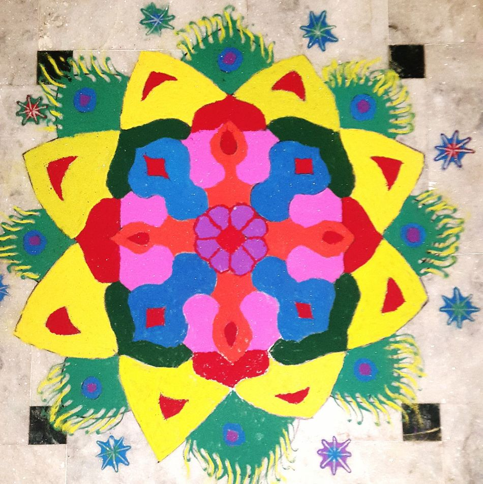 Taking Photos Art Art And Craft Creativity Religion Outdoors Check This Out Colorful Rangoli.