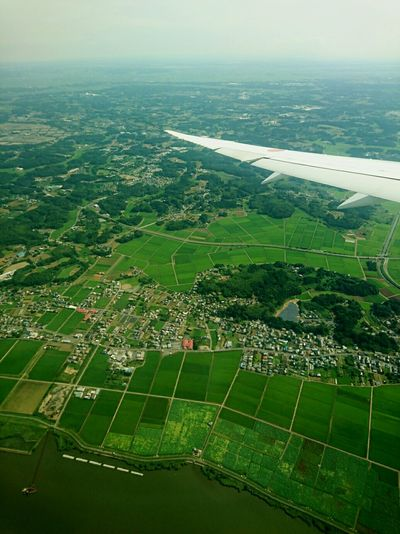Fly up in the air Landscape Farm Japan Japanlandscape AllNipponAirways NARITAAIRPORT Tourism Outdoors July2016 Skyshot