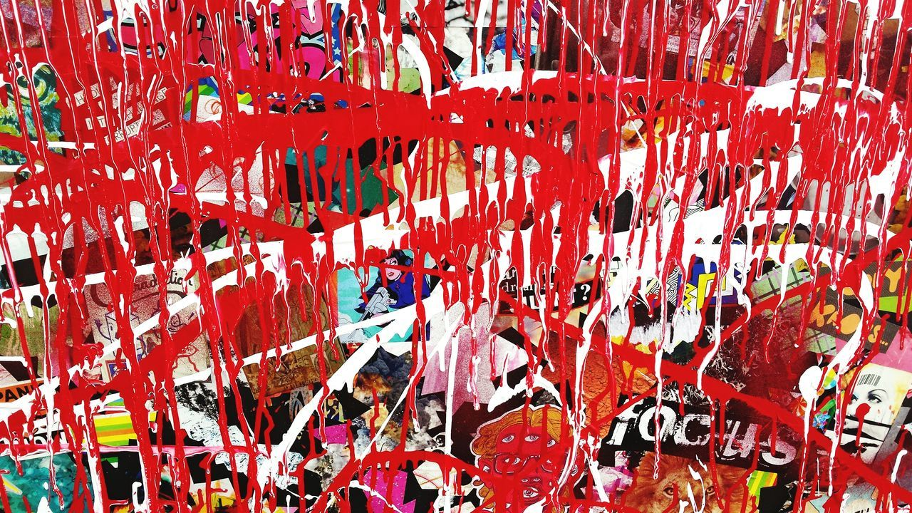 My dad is terminal. My anxiety is suffocating. So I cope with paint. Abstract Art Mixed Media Acrylic Collage Tv Screen Coping Self Expression Textures And Surfaces My Escape  Hope ArtWork Relief Vision The Words I Can't Find EyeEm Gallery Showcase: June Visual Statements Grief This Week On Eyeem Dripping Red White Art Photography Street Art Pray For Me