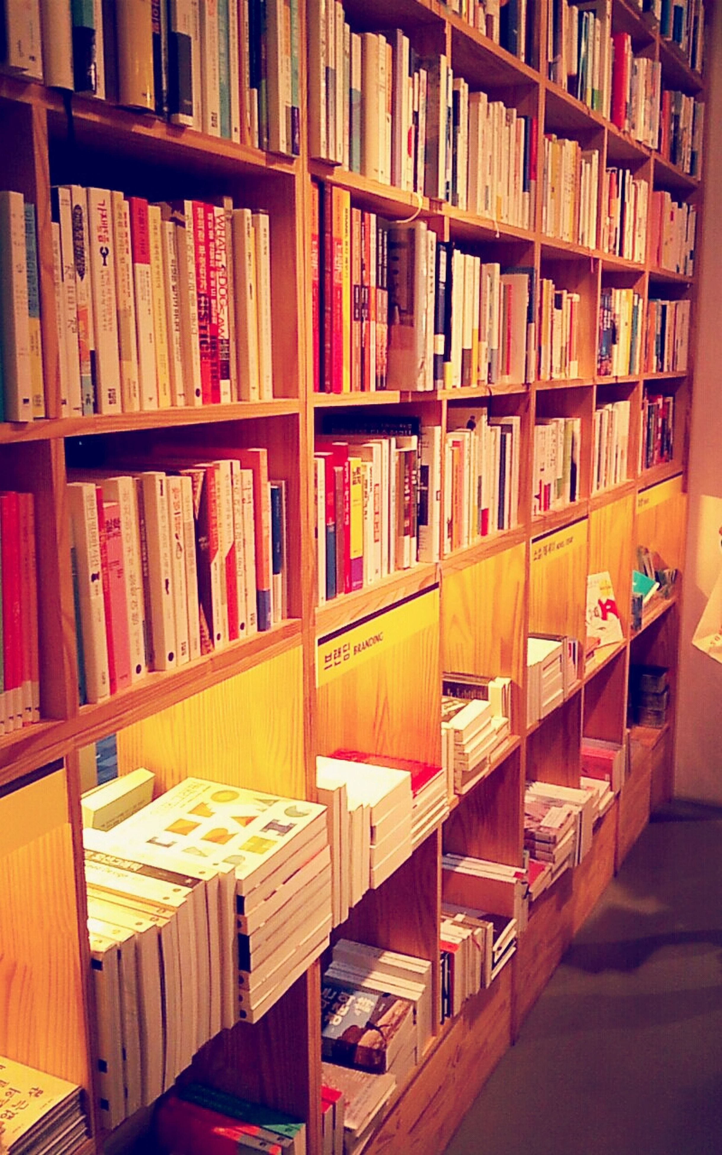 indoors, in a row, arrangement, large group of objects, order, bookshelf, book, multi colored, education, shelf, variation, abundance, choice, library, collection, wood - material, no people, stack, literature, repetition