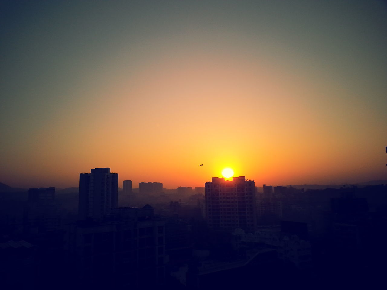 This photo I had click when I making my coffee and suddenly this gorgeous view took my attention. Gorgeous ♥ View From The Window... Sunrise Shades Colour Vs Black & White Beautiful Nature First Eyeem Photo