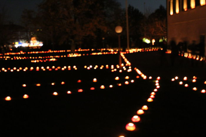 Celebration in the dark #blur #Switzerland #trip City City Life Colorful Culture Glowing Illuminated Lantern Night Outdoors