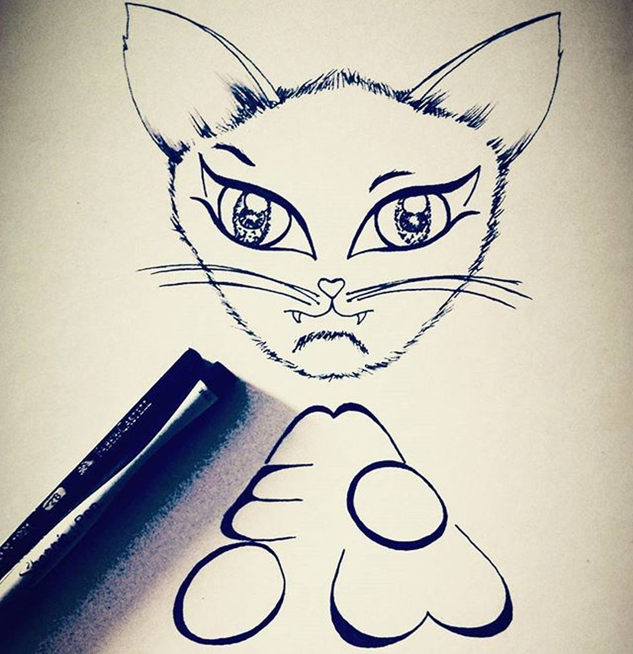 Meeeoooooowwww 🐈🐱 😊 Kitty Creative_animalart Animalart Animals Cat Kitten Love Cute Meow Eyes Arts_help Artsy Creative Lettering Followforfollow Art_collective Artofdrawingg Arts_gallery Blackpen BlackInk Lineart Blackandwhite Cats Sketchbook Sketch_daily