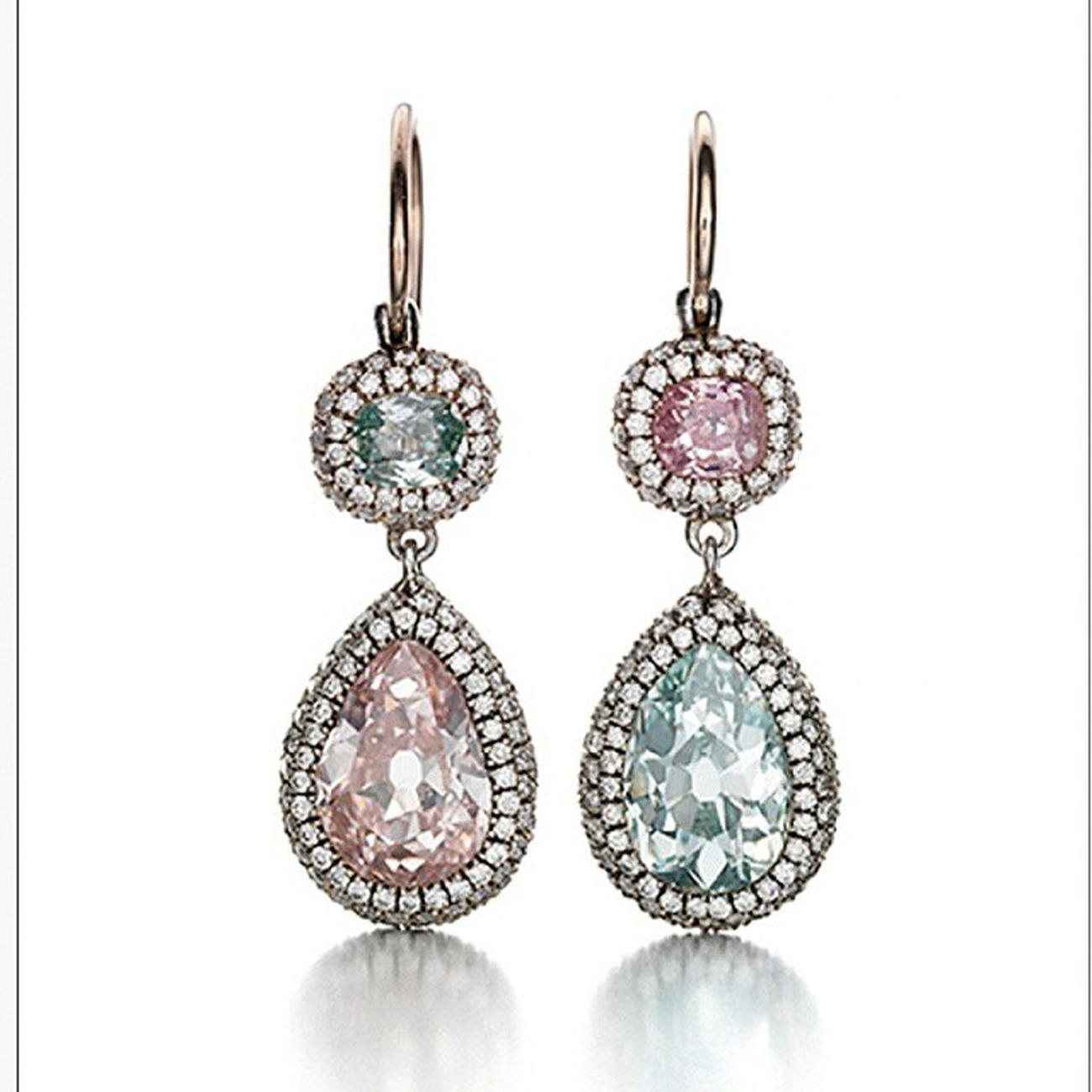 Renkli ruyalar😊💤Pink and Blue Diamonds Earrings by @Siegelson in NY Jewellery Jewelry Jewelryaddiction Joias Gioelli Fashion Fashioninsta Sweetdreams  Gorgeous Luxury Precious Pretty Chic Highjewelry Hautejoaillerie Maison