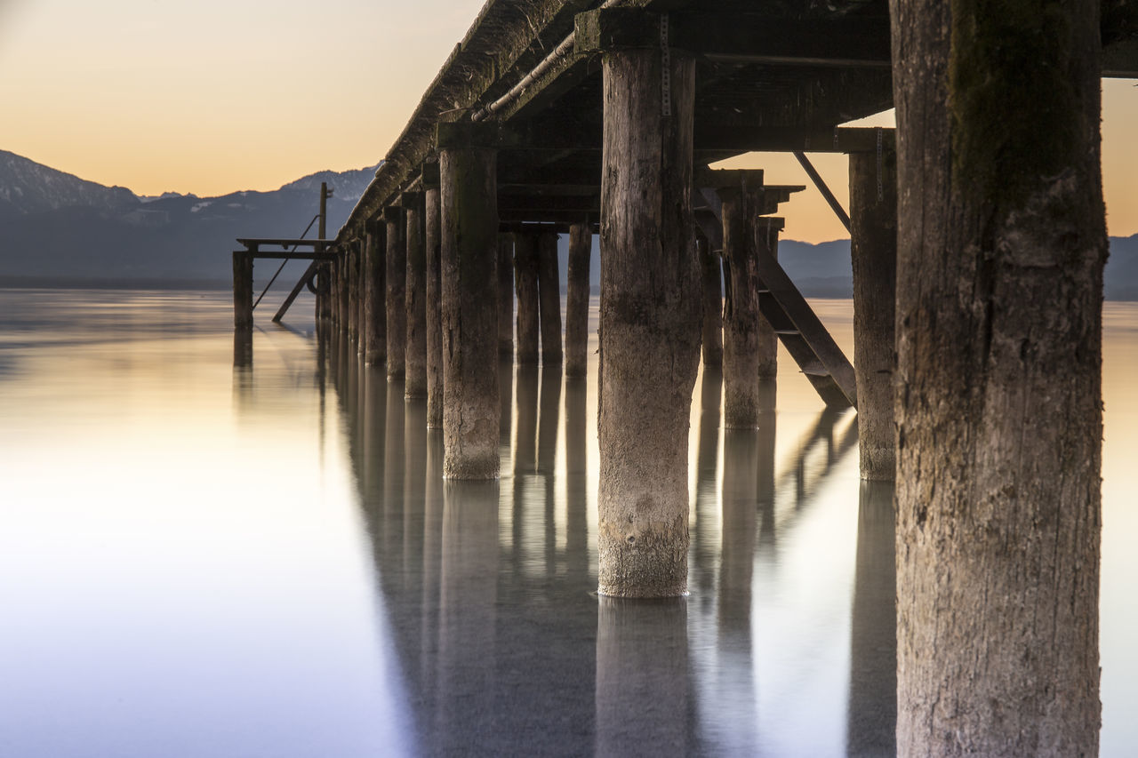 Architecture Beach Bridge Built Structure Golden Hour Idyllic Lake Landscape Mountain Nature Nature_collection No People Outdoors Pier Reflection Scenics Sky Sun Sunlight Sunrise Sunset Tranquility Water Water Reflections Wood - Material