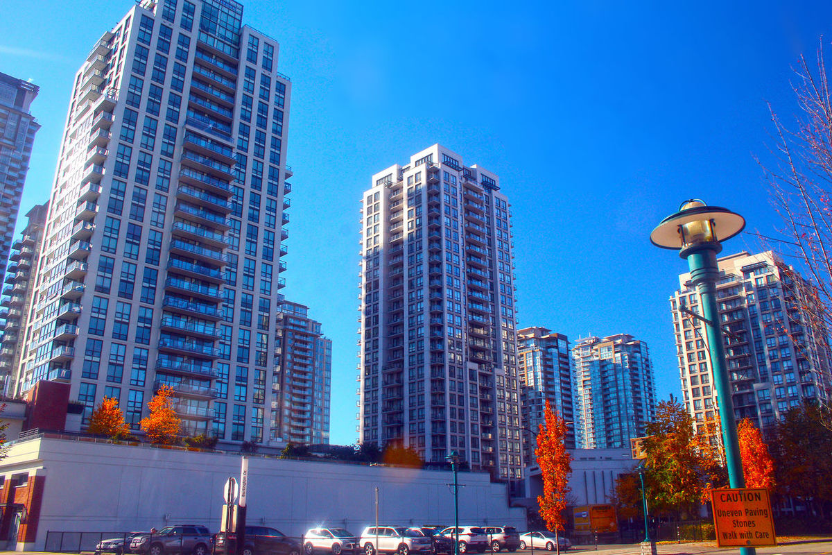 Skyscrapers in Coquitlam B.C. Canada. Skyscraper Architecture Modern Sky Built Structure Outdoors Low Angle View Building Exterior Coquitlam Canada B.C