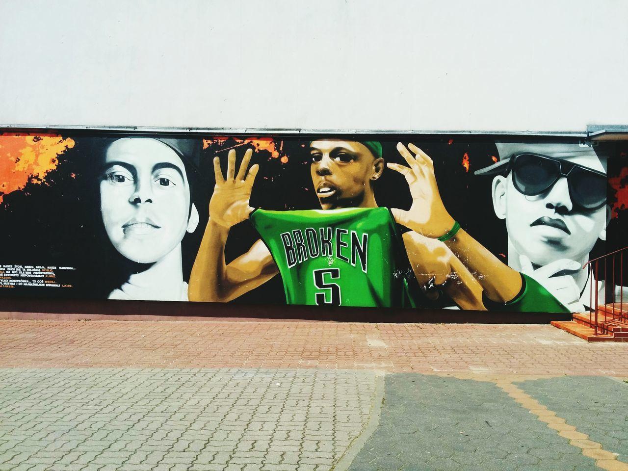 PaulPierce NBA Broken Graffiti Streetart