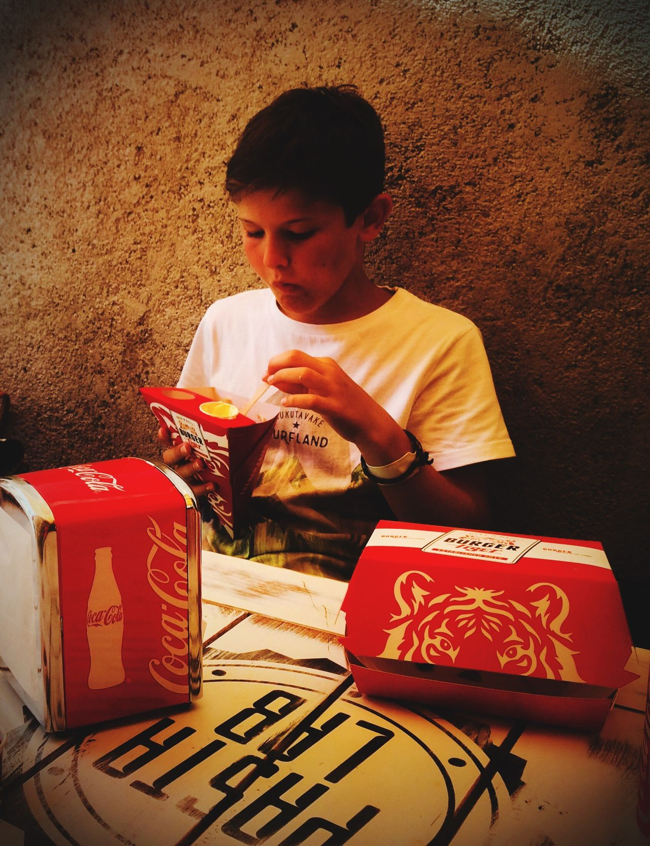 Street food Eat Food Boxes Fast Eating Kid Eating Red Box