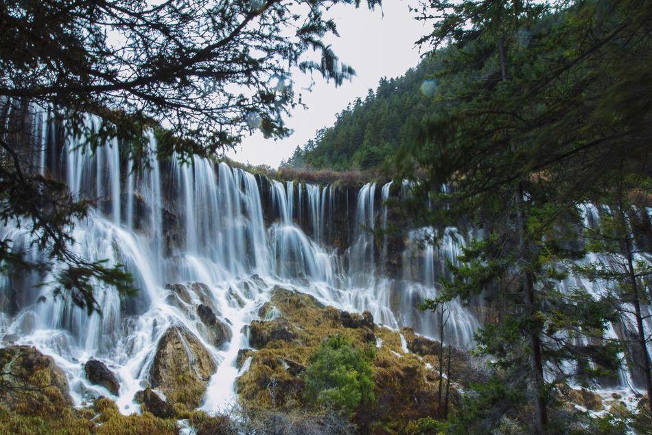 Waterfalls in Jiuzhaigou, Sichuan Province,China EyeEm Nature Lover Waterfall EyeEm Best Shots Amazing View Landscape_Collection Taking Photos The Week Of Eyeem