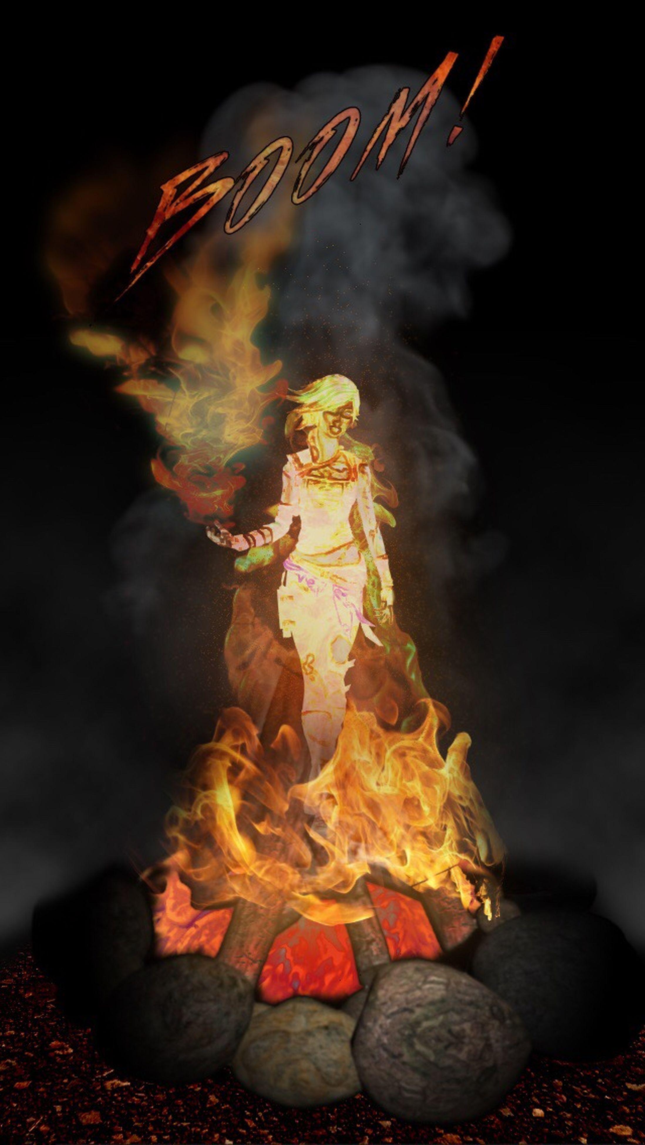 burning, flame, fire - natural phenomenon, heat - temperature, night, glowing, fire, bonfire, illuminated, smoke - physical structure, close-up, campfire, heat, celebration, smoke, motion, firewood, outdoors, spirituality, danger