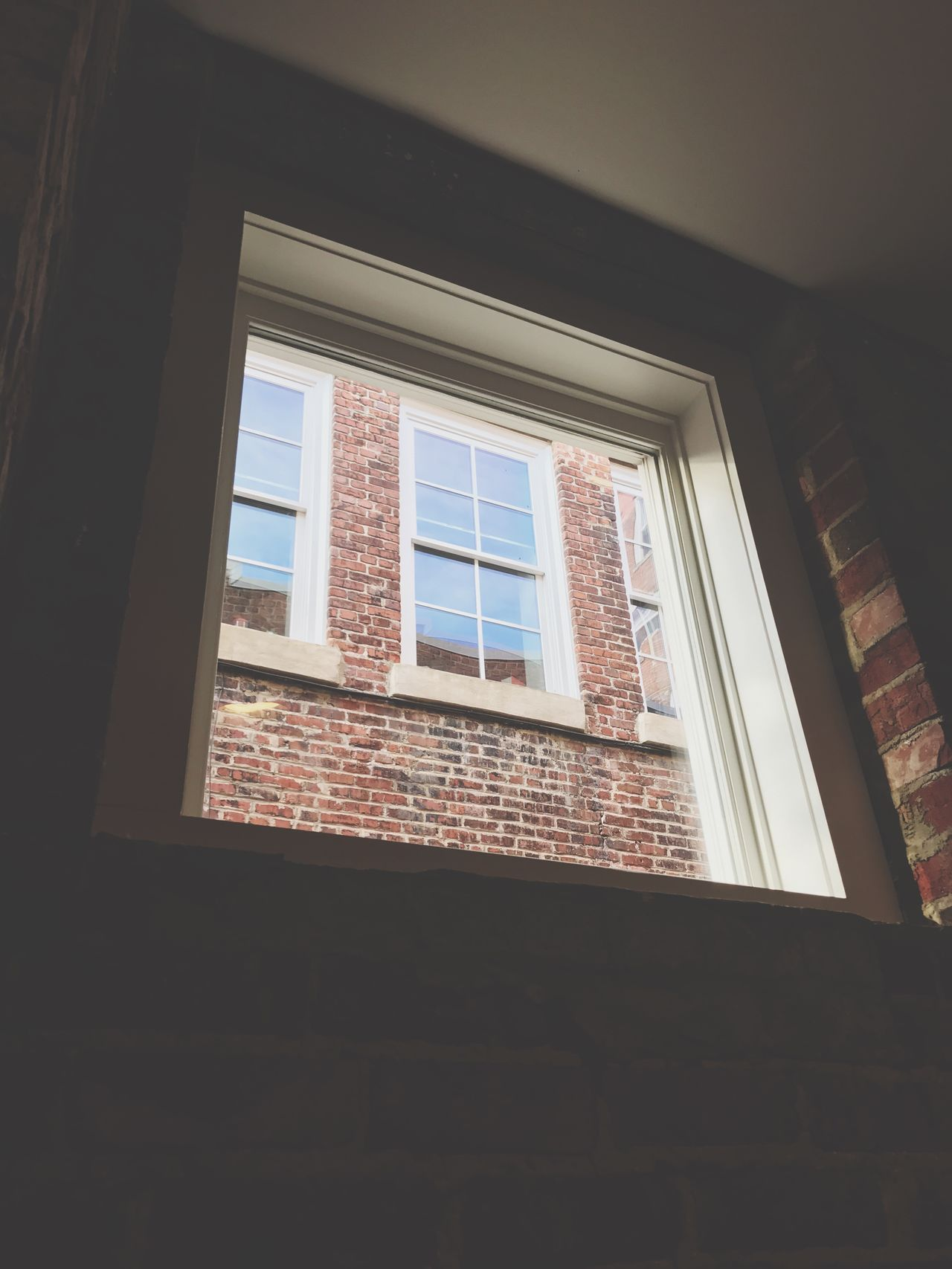 What windows through a window. Window Low Angle View Built Structure Indoors  Architecture No People Day Backgrounds Conceptual Concept
