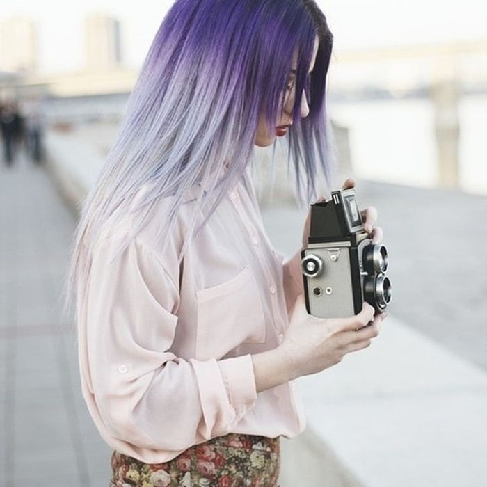 Girl Hair Violet Hair