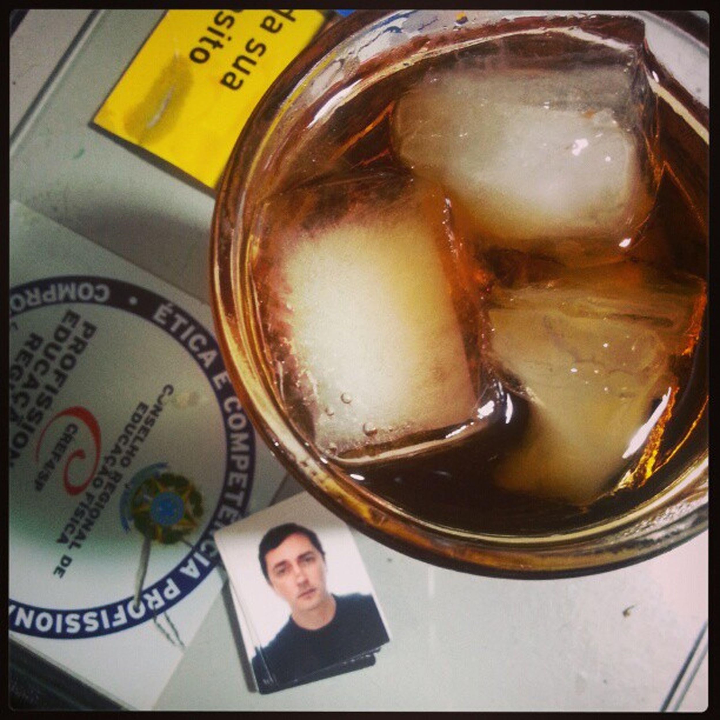 Não sabia se bebia Whisky ou Cynar ... misturei os dois. :O