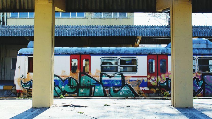 Miles Away Train Trainstation Sad Architecture First Eyeem Photo Popular Photos Photooftheday Graffiti Art