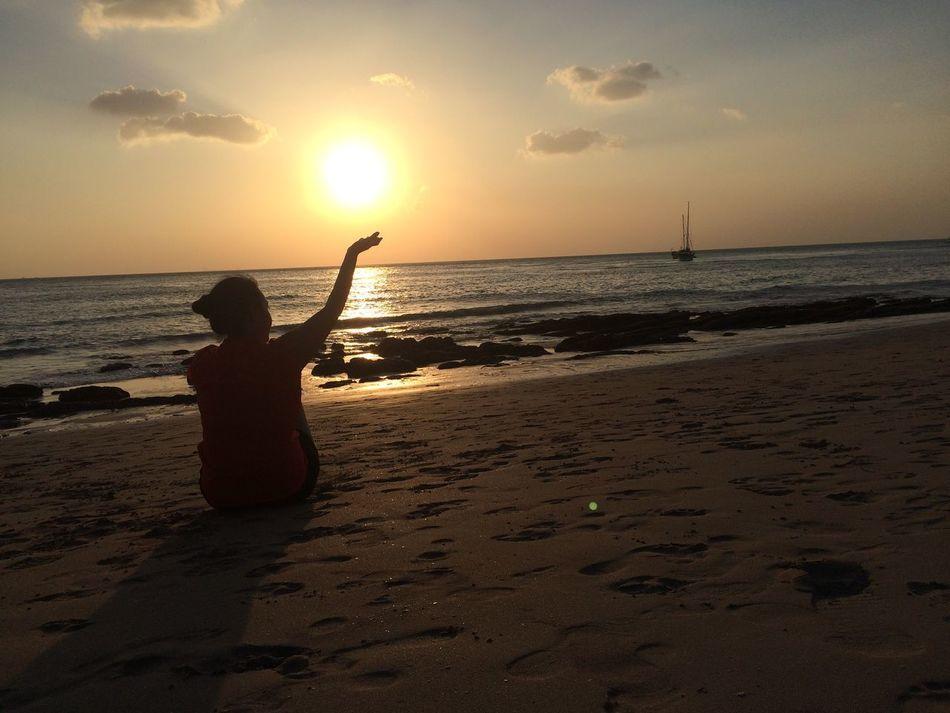 The future is in your hand 😘 43 Golden Moments Gold ILoveMyself Beach NoEditNoFilter Krabi Moon Sea View Sunset - in Koh Lanta Krabi