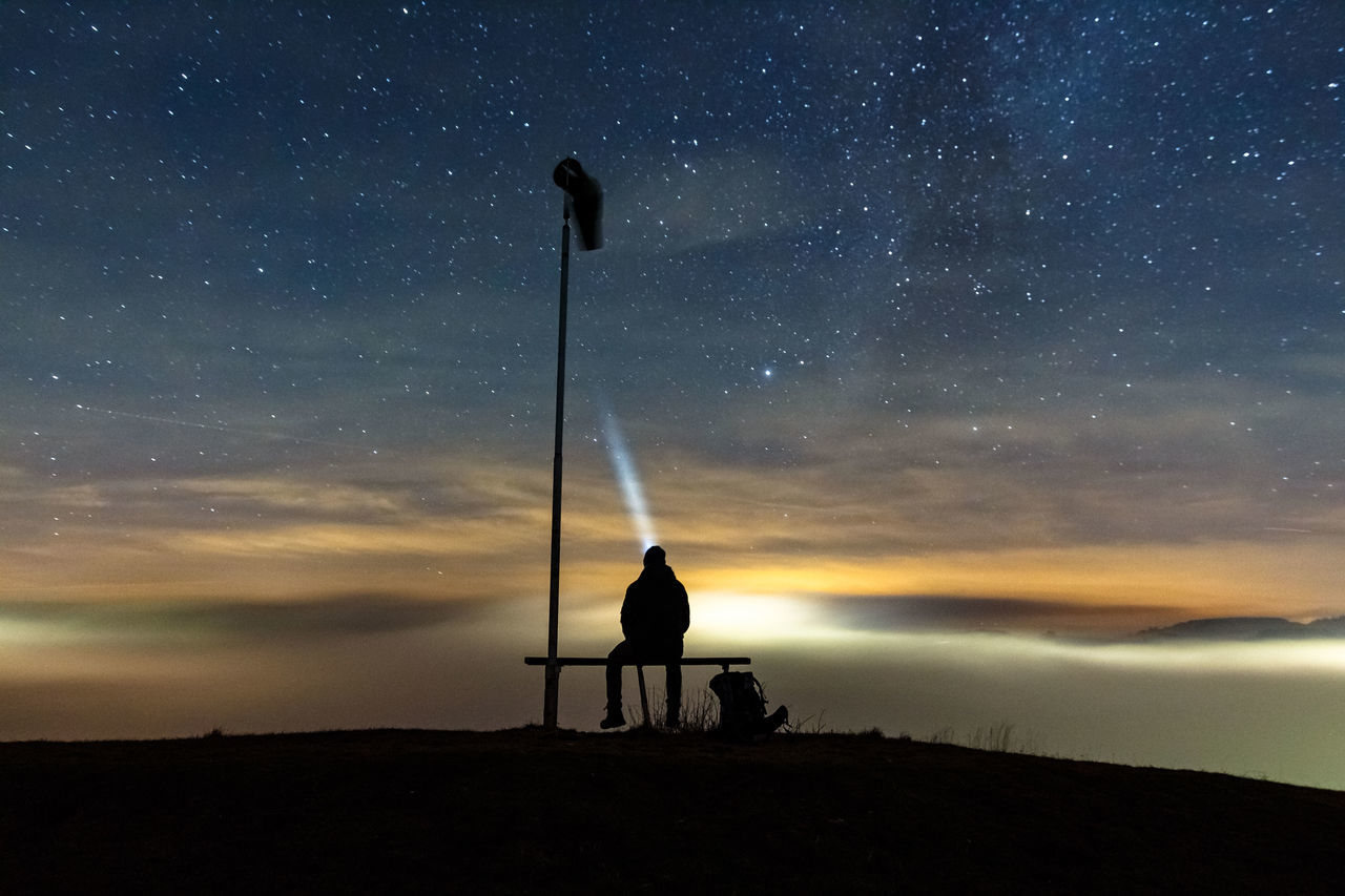 Beautiful stock photos of sky,  Astronomy,  Beauty In Nature,  Bench,  Blue
