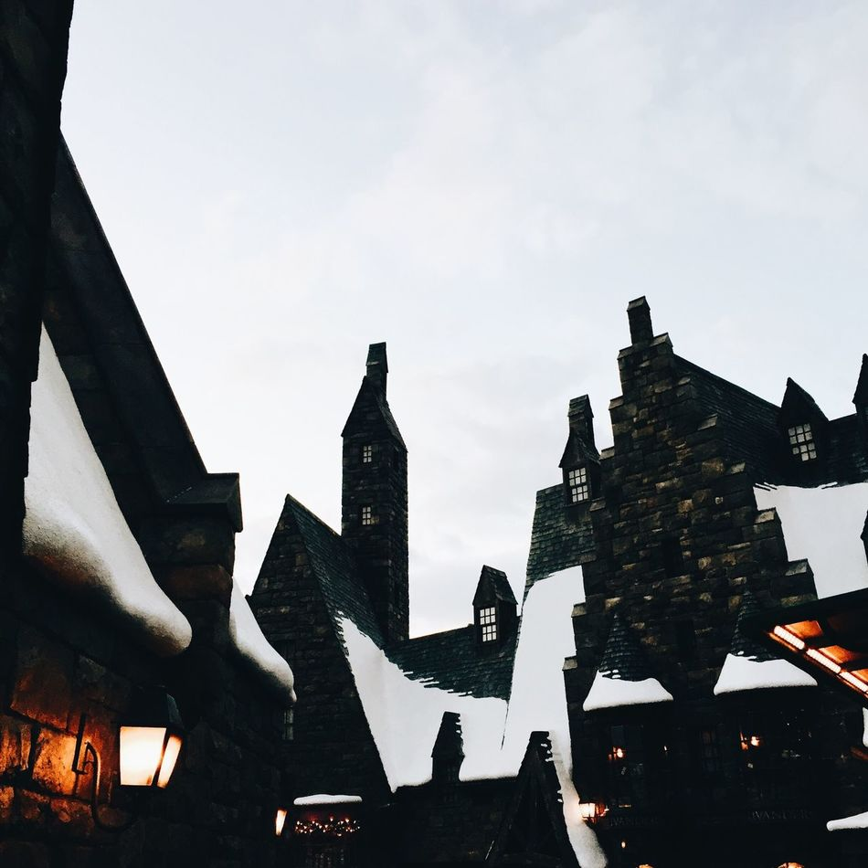 Hogsmede Architecture Built Structure Sky Building Exterior Low Angle View Outdoors Day No People Travel Destinations Silhouette Japan Photography Japan Full Frame