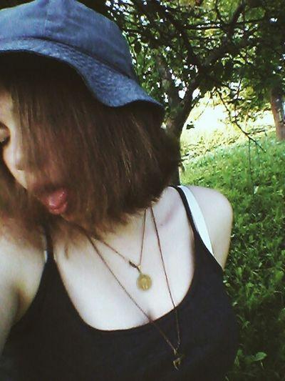 я Я русалка волосы радости сонце☀ панама лето Україна Люблю показывать язык