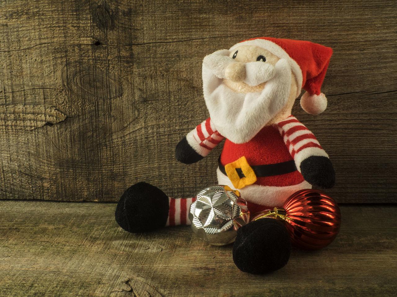 Beautiful stock photos of weihnachtsmann, stuffed toy, teddy bear, indoors, christmas