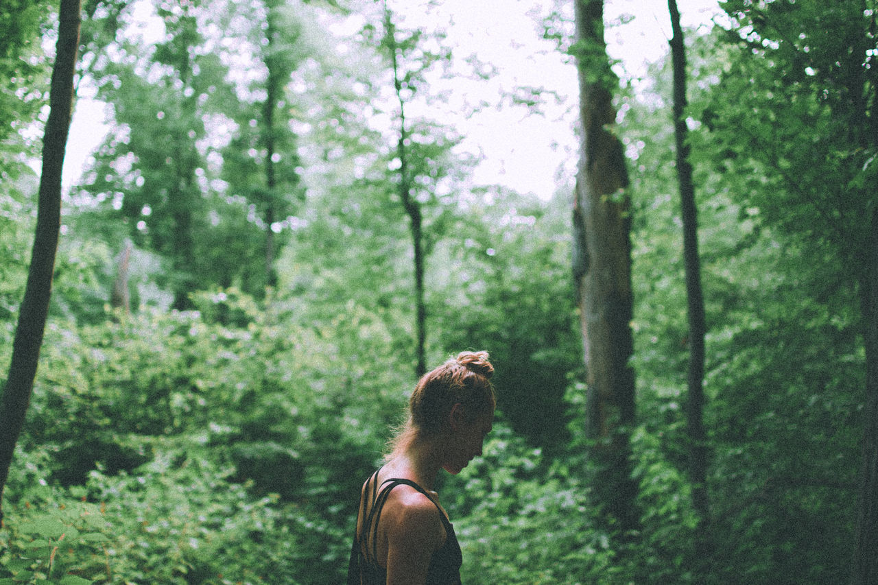 Low Section Of Woman In Forest