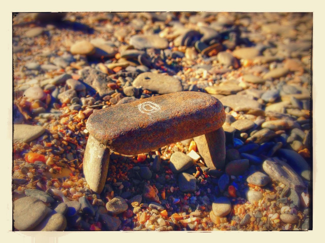 pebble, auto post production filter, beach, rock - object, pebble beach, no people, day, outdoors, nature, close-up, sand, water, animal themes, freshness