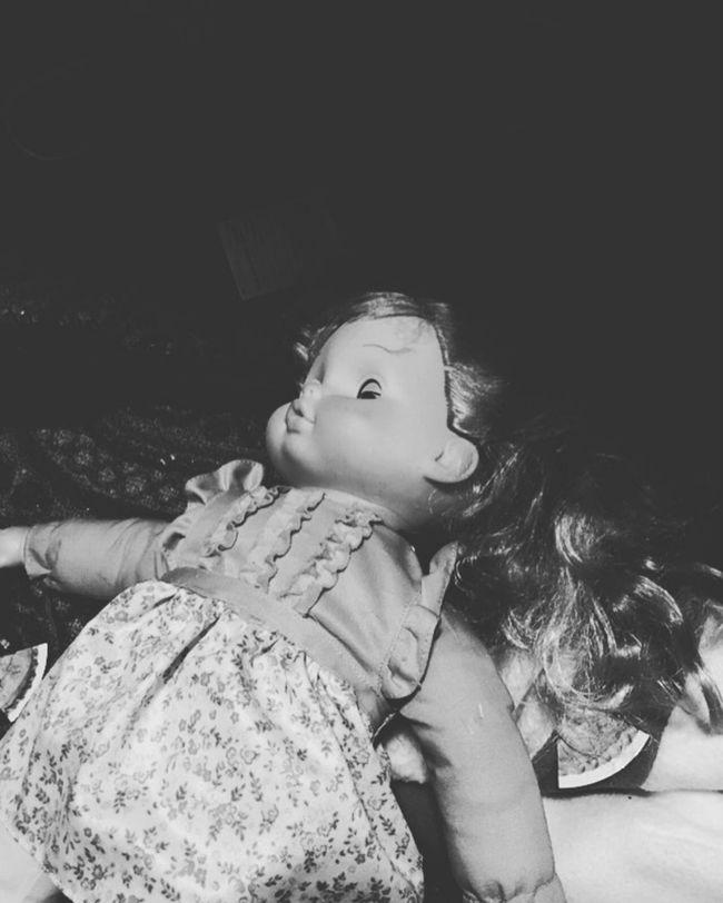 Creepy BNW Doll Black And White Blackandwhite Bnw Creepy Creepy Crawly Imatgescat Monchromatic Monochrome