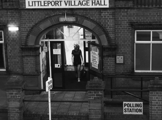 Cast Her Vote British Politics Casual Clothing Emancipation Eu Girl Power In Or Out? Information Sign Make A Difference Making A Difference Polling Station Referendum The Week Of Eyeem The Week On Eyem Uk Village Hall Village Life Vote Vote Remain Voting Women's Rights