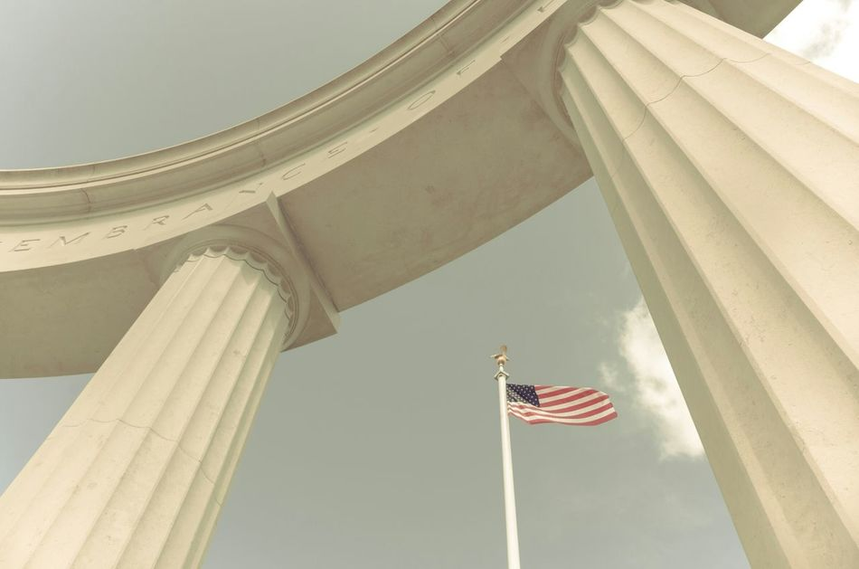 Beautiful stock photos of memorial day, American Flag, Architectural Column, Day, Low Angle View