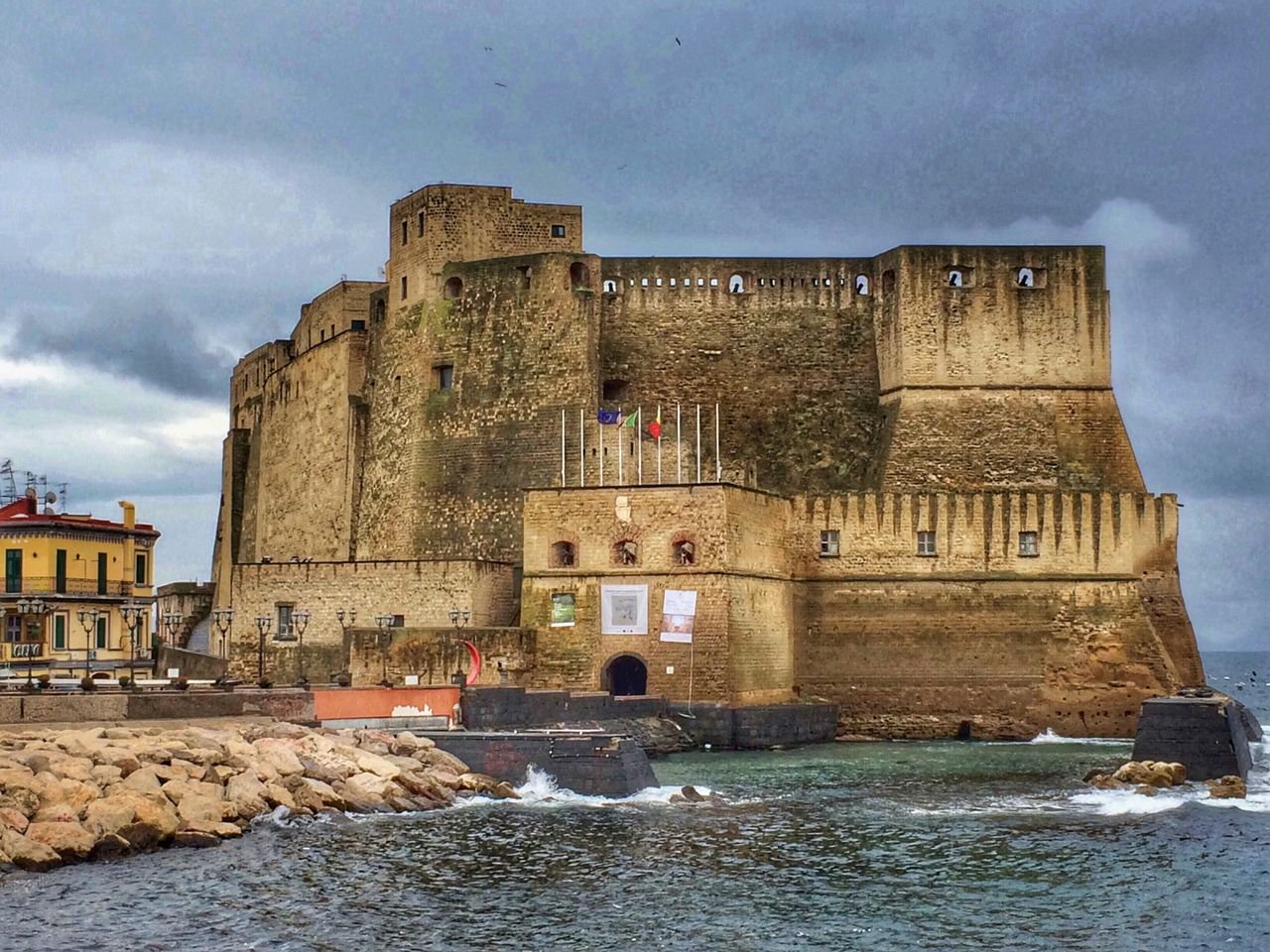 The Secret Spaces Castle Sea And Sky House View Naples, Italy Travel Photography Architecture Tourism No People Outdoors