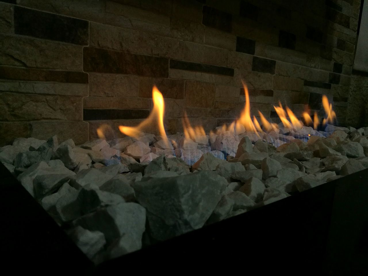 flame, burning, heat - temperature, no people, indoors, close-up, illuminated, night