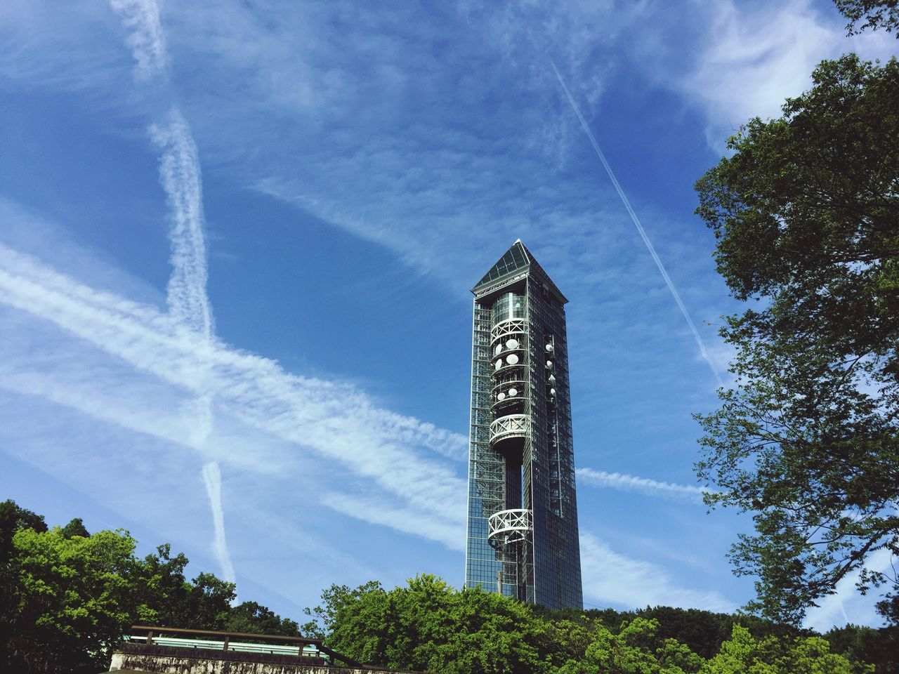 Contrail and Higashiyama Sky Tower