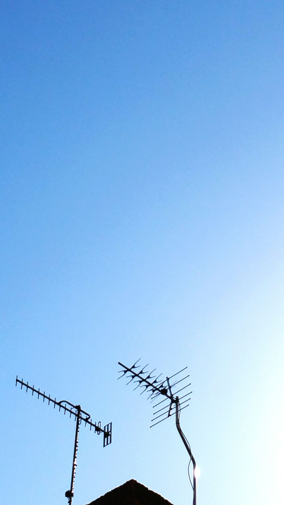 Beautiful stock photos of television, Antenna - Aerial, Blue, Clear Sky, Communication