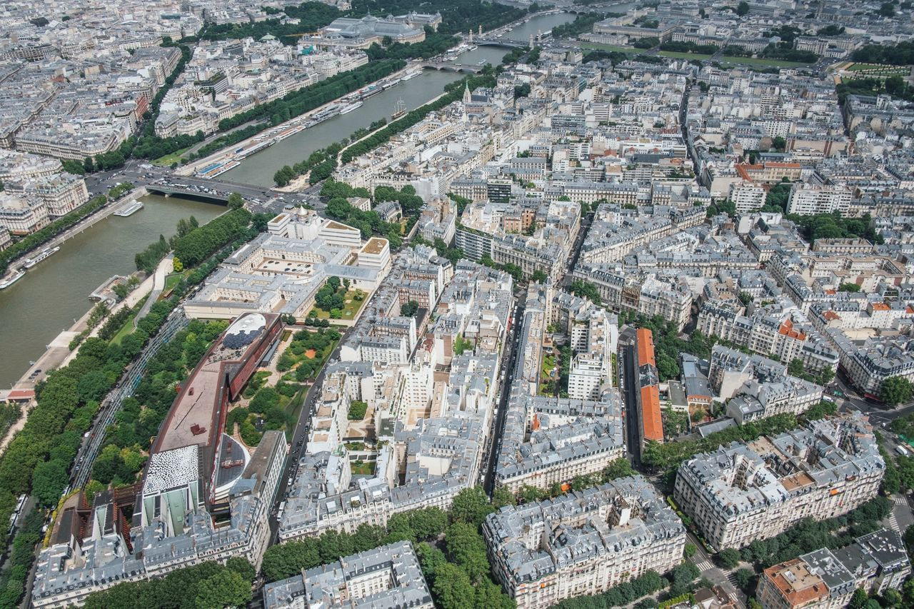 Aerial View Architecture Building Exterior Built Structure Business Finance And Industry City Cityscape Day High Angle View History Landscape Nature No People Outdoors Paris Paris, France  Residential Building Road Roof Travel Travel Destinations Tree
