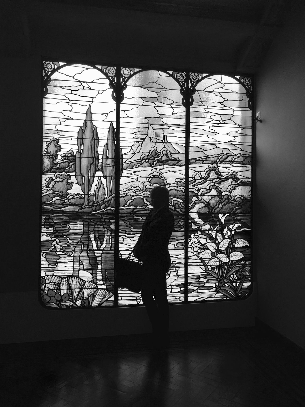One Person Architecture EyeEm Gallery Silhouette Window Glass Art Glass EyeEm Best Shots - Black + White Black And White Blackandwhite Photography Blackandwhite Black & White Architecture_bw Bw_collection Streetphoto_bw IPhoneography Iphoneonly Eye4photography  EyeEm Bnw Built Structure Barcelona The City Light