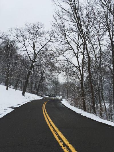 Snowy Walk Snow Winter Road Pittsburgh Empty