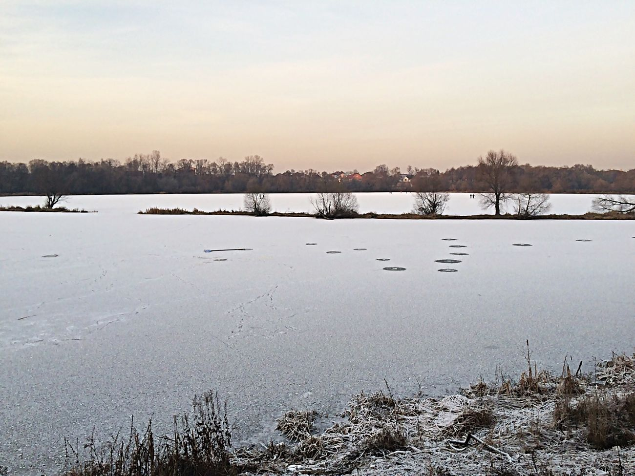 ;) Snow Cold Winter Pond