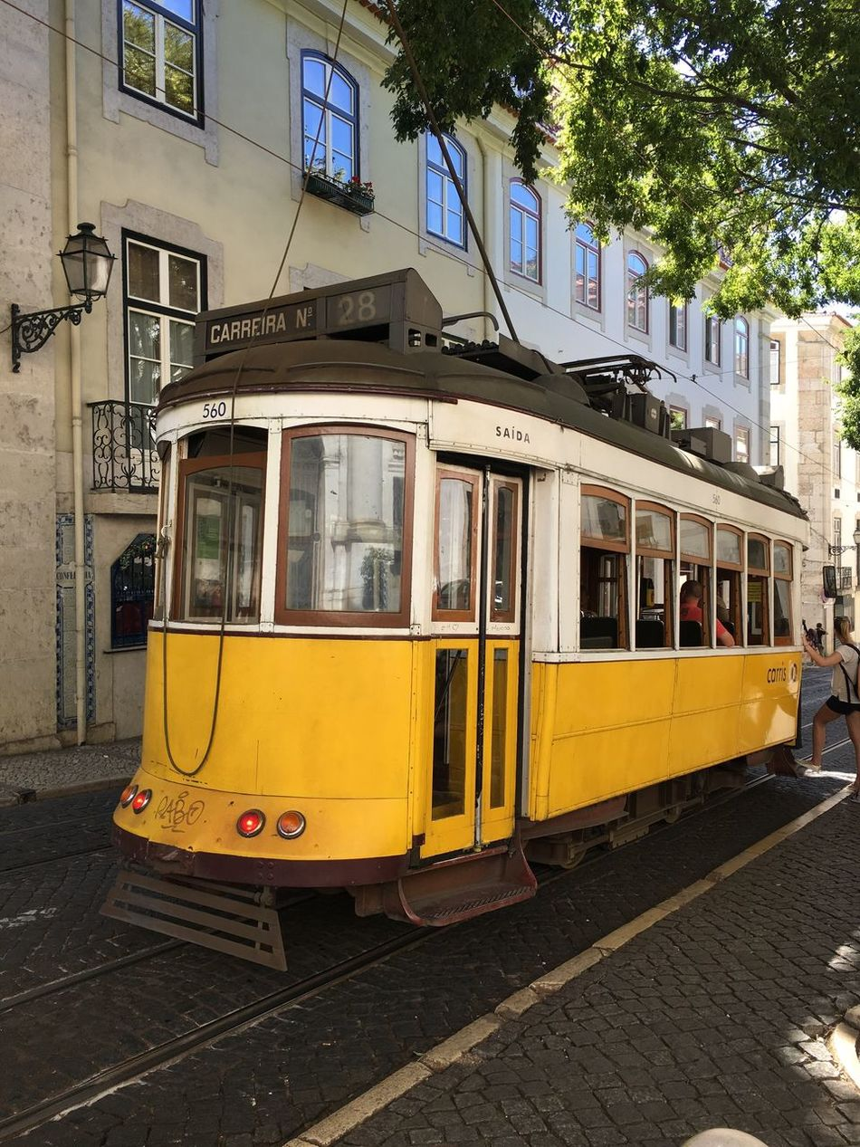 Tram Tramway From My Point Of View Railway Yellow Lisbon Color Explosion Colors Streetphotography Street Streetphoto_color Street Style From Around The World Calçada Portuguesa Carreira