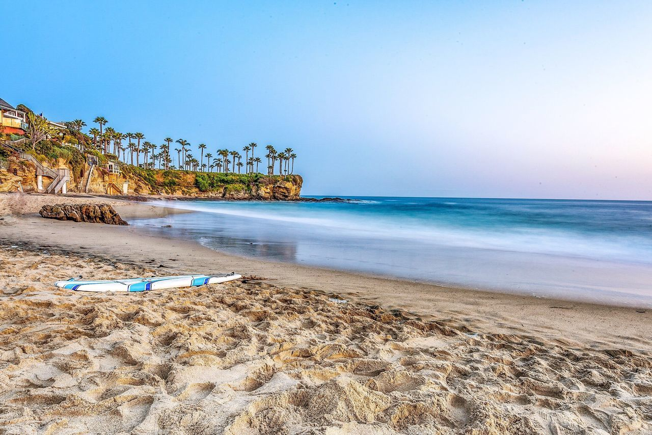 Beach Day Laguna Beach, CA California, long exposure, beach, pacific, ocean, sand, landscape, seascape, palm trees, crescent bay, Sea Sand Water Beauty In Nature