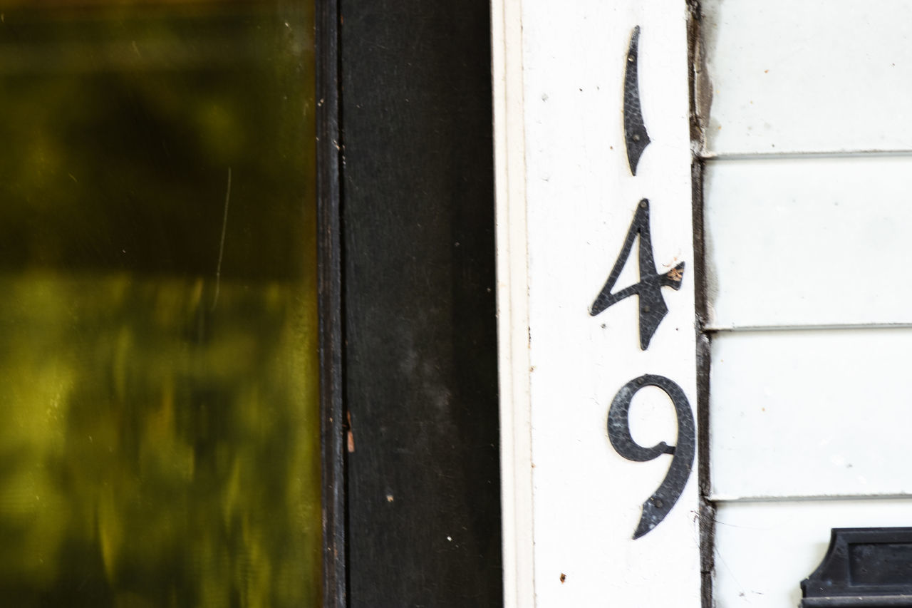 149 149 No People Close-up Numbers Number Numbers Only Address Sign Text Door Home House Exterior