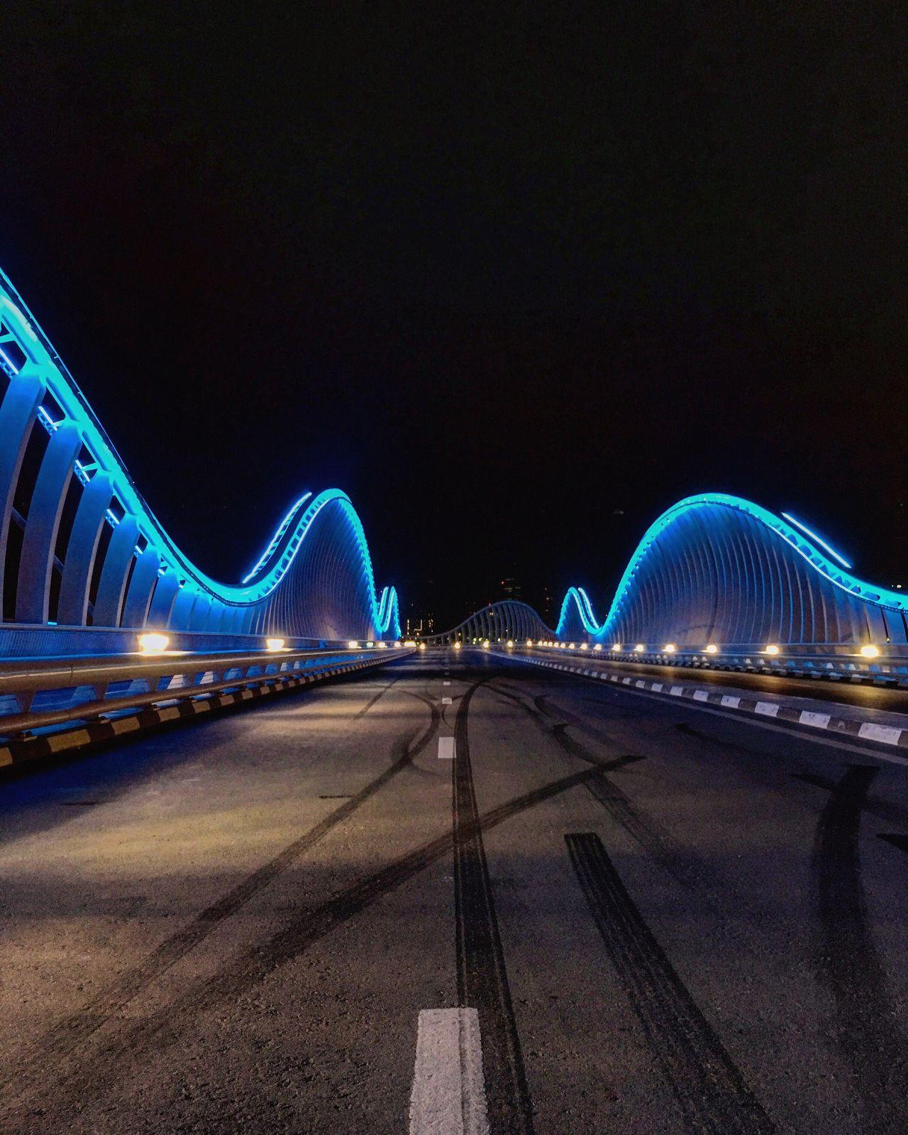 Bridge Lights Bluelight Almeydan Meydan Road Dubai