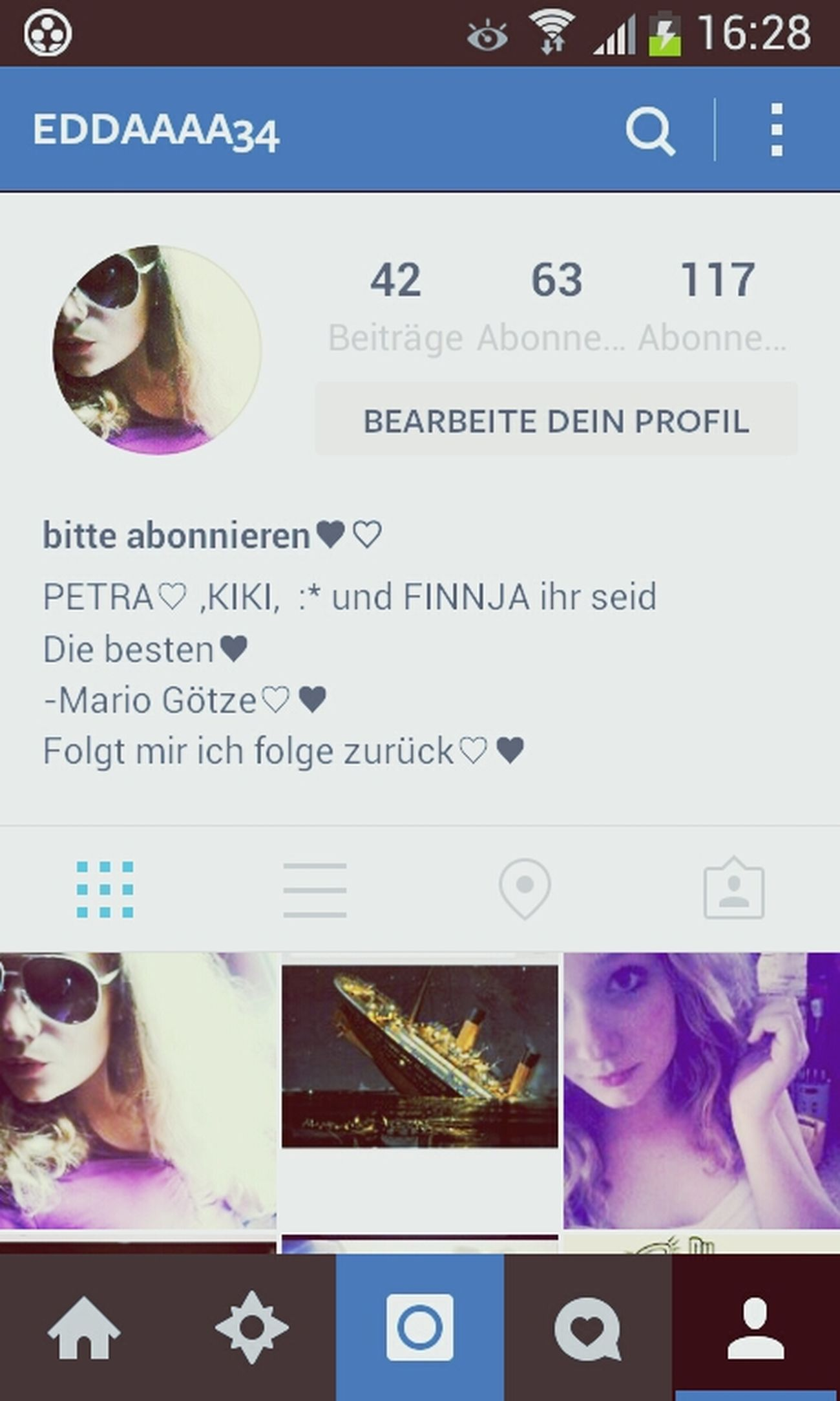 Instagram♡ Folgt Mir Und Ich Folge Zurück♥ xD Hello World !