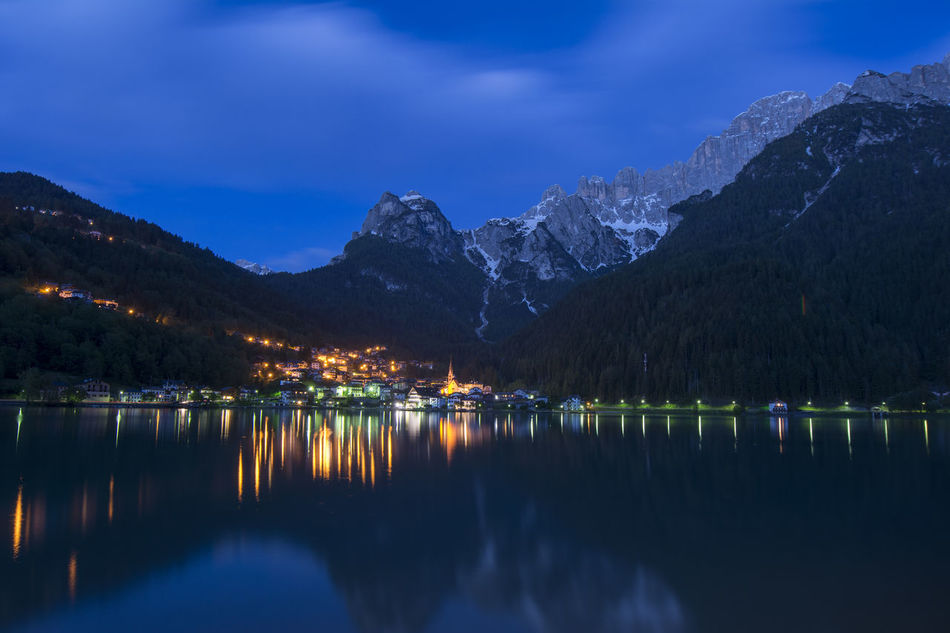 The Great Outdoors With Adobe The Great Outdoors - 2016 EyeEm Awards Alleghe Italy Italia Lake Dolomites Dolomites, Italy Reflection Reflections Alleghe Lake Water Reflections Water Lights Mountains Mountain Clauds Clauds And Sky Sky City EyeEm X Adobe - The Great Outdoors