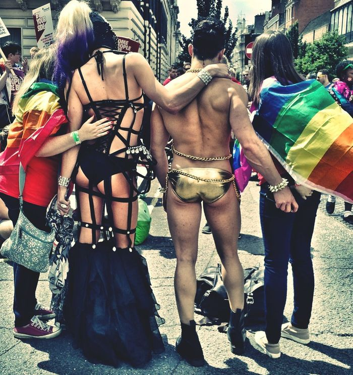 London Pride 2016 Real People Outdoors Adults Only Day Togetherness Adult People Friendship Street Gaypride 2016 Behindthescenes Bums Gay Bum