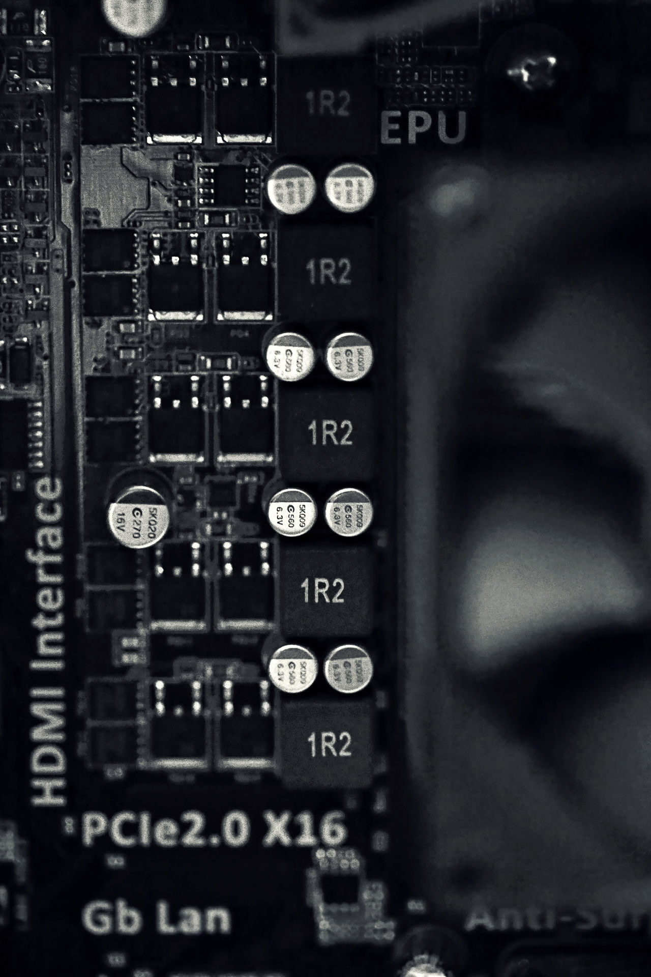 Black And White Close-up Closeup Communication Computer CPU Device Equipment Fan Indoors  Industry Letters Macro Network Server No People Numbers Object Parts Plug Outlet Processor Tech Technology Technical Electrical Harddrive